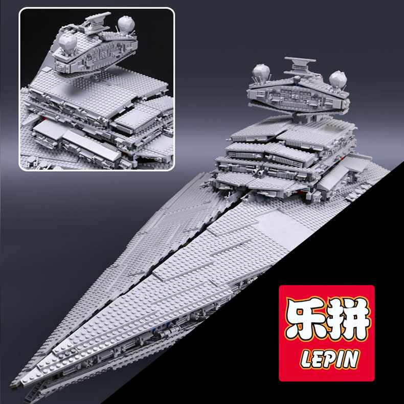 Lepin 05027 3250Pcs Super Star Wars Destroyer Model Starship Technic Building Blocks Brick Educational toys for children 10030 05028 star wars execytor super star destroyer model building kit mini block brick toy gift compatible 75055 tos lepin