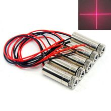 5pcs 12mm Dia Cross Red Laser Lights Focusable 650nm 30mW Diode Module w Focus Lens Heads 3V-5V
