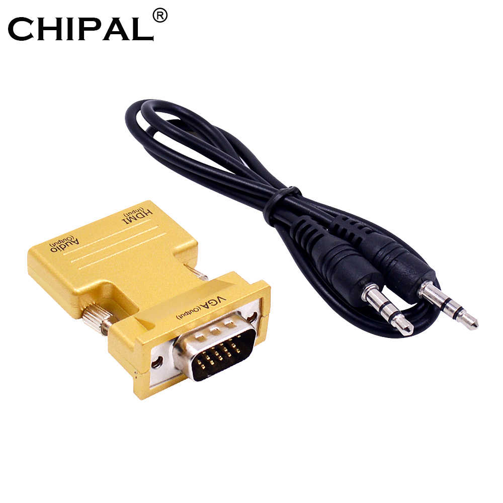 CHIPAL Mini HDMI2VGA адаптер HDMI к VGA конвертер с аудио кабелем для PS3 настольного ноутбука STB до 1080 P HDTV дисплей проектор