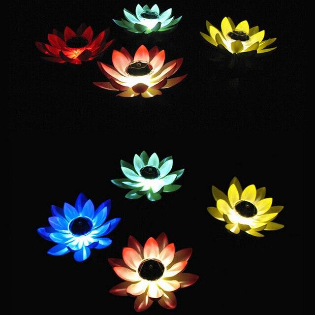 Solar Powered LED Lotus Flower Lamp  2