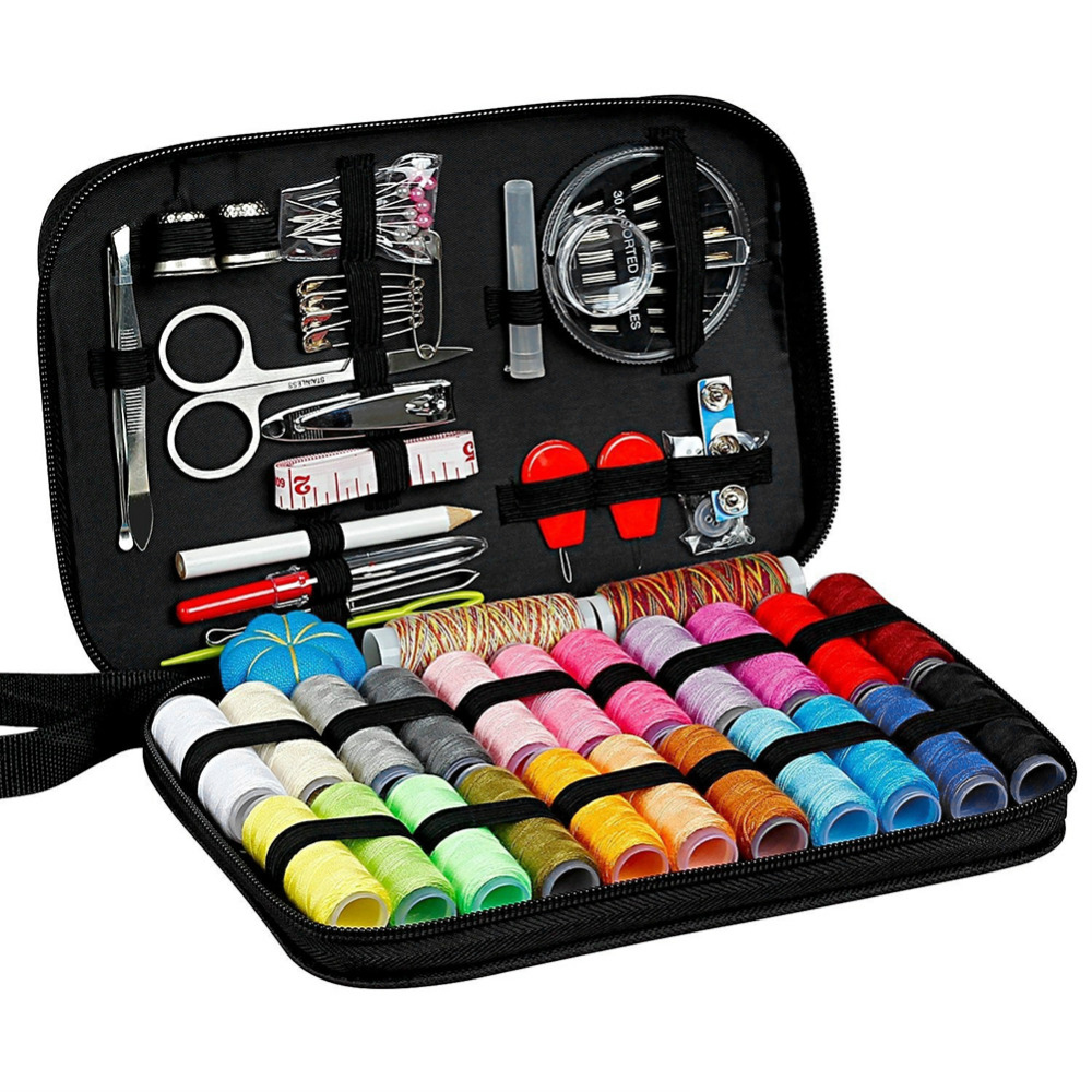 Multifunction Sewing Box Sewing Thread Stitches Needles Tools Kit Cloth Buttons Craft Scissor Travel Sewing Kit