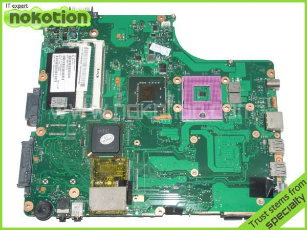 NOKOTION laptop motherboard for TOSHIBA SATELLITE A300 A300D V000125610 INTEL GM965 INTEGRATED GMA 4500MHD DDR2 микрофонная стойка quik lok a302 bk