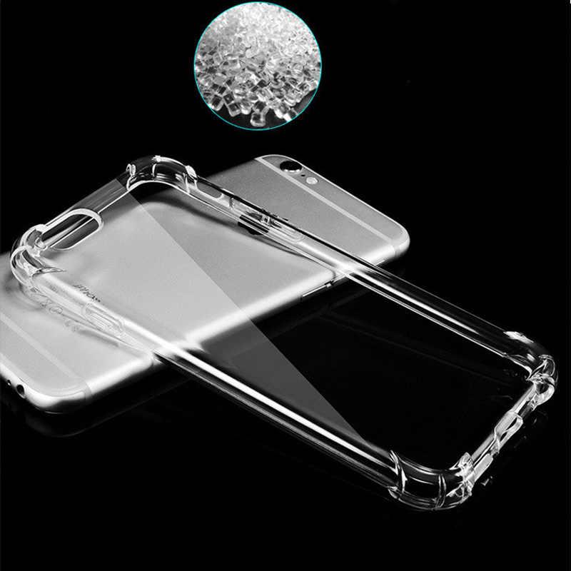 Super Shockproof Bening Lembut Case untuk iPhone 5 5 S SE 8 7 6 Plus 6 S Plus 7 Plus 8 plus X S R Max Silicon Mewah Ponsel Penutup Belakang