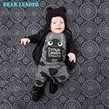 Líder del oso Del Bebé 2016 nuevo estilo Bebé ropa conjuntos de verano ropa de bebé niñas establece bebé ropa del muchacho fijaron corto-manga y pantalones