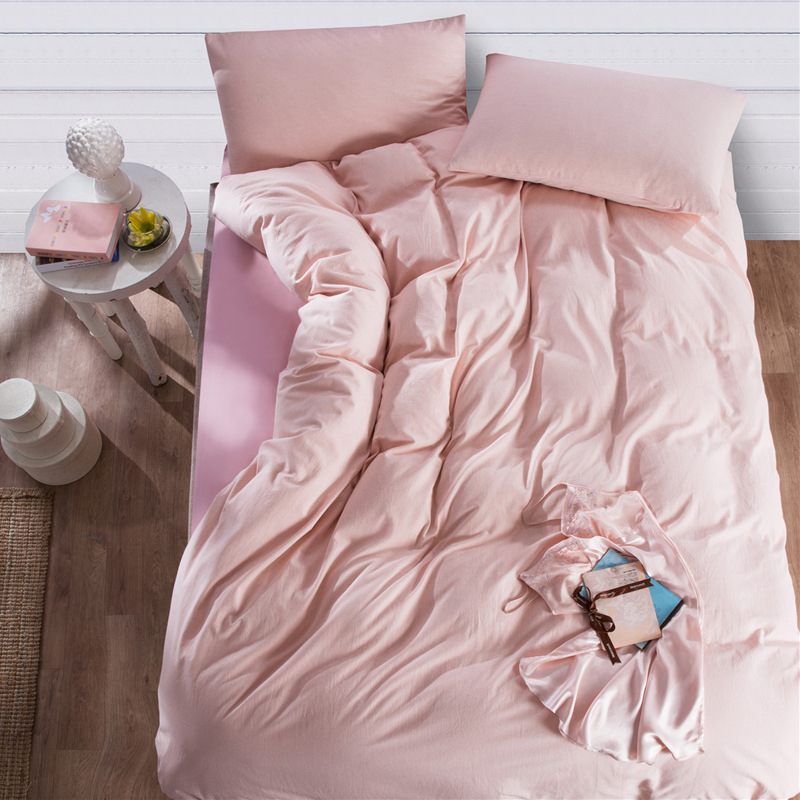 Pink 100 Cotton Bedding Sets Of Duvet Cover Amp Fitted Sheet