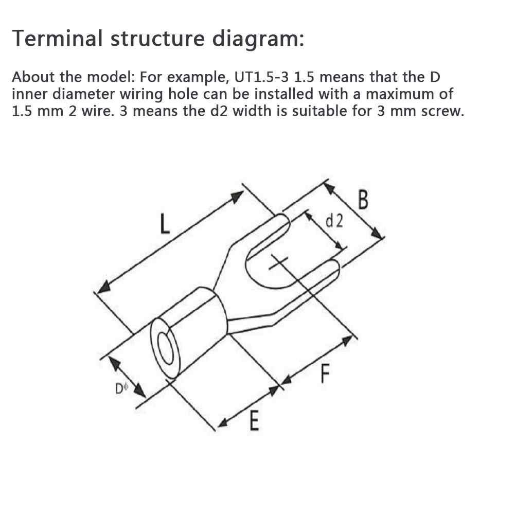 375 шт./кор. 15 типа s клеммы неизолированные кольцевые вилки u-типа латунные клеммы ассортимент комплект кабельных проводов разъем обжимной лопаты