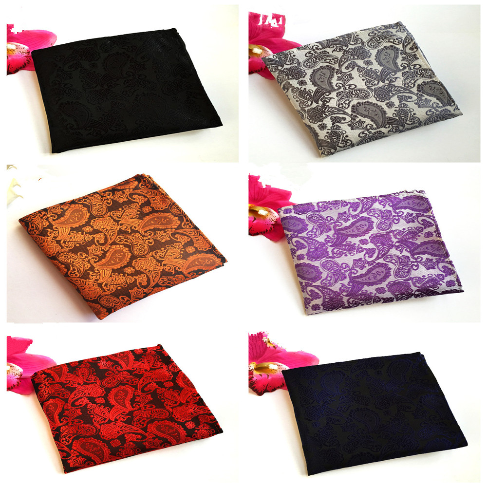 Explosion Models Men's Retro Handkerchief Square Towel Quality Explosion Models Polyester Fashion Boutique Dress Pocket Towel
