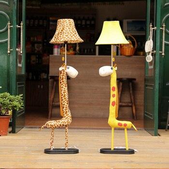 Cartoon Giraffe Kid's Room Floor Lamps Cute Fabric Baby Room Floor Lamp Cute Children Bedroom Floor Light