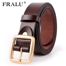FRALU 2017 Women's strap casual all-match Women brief genuine leather belt women strap pure color belts Top quality jeans belt