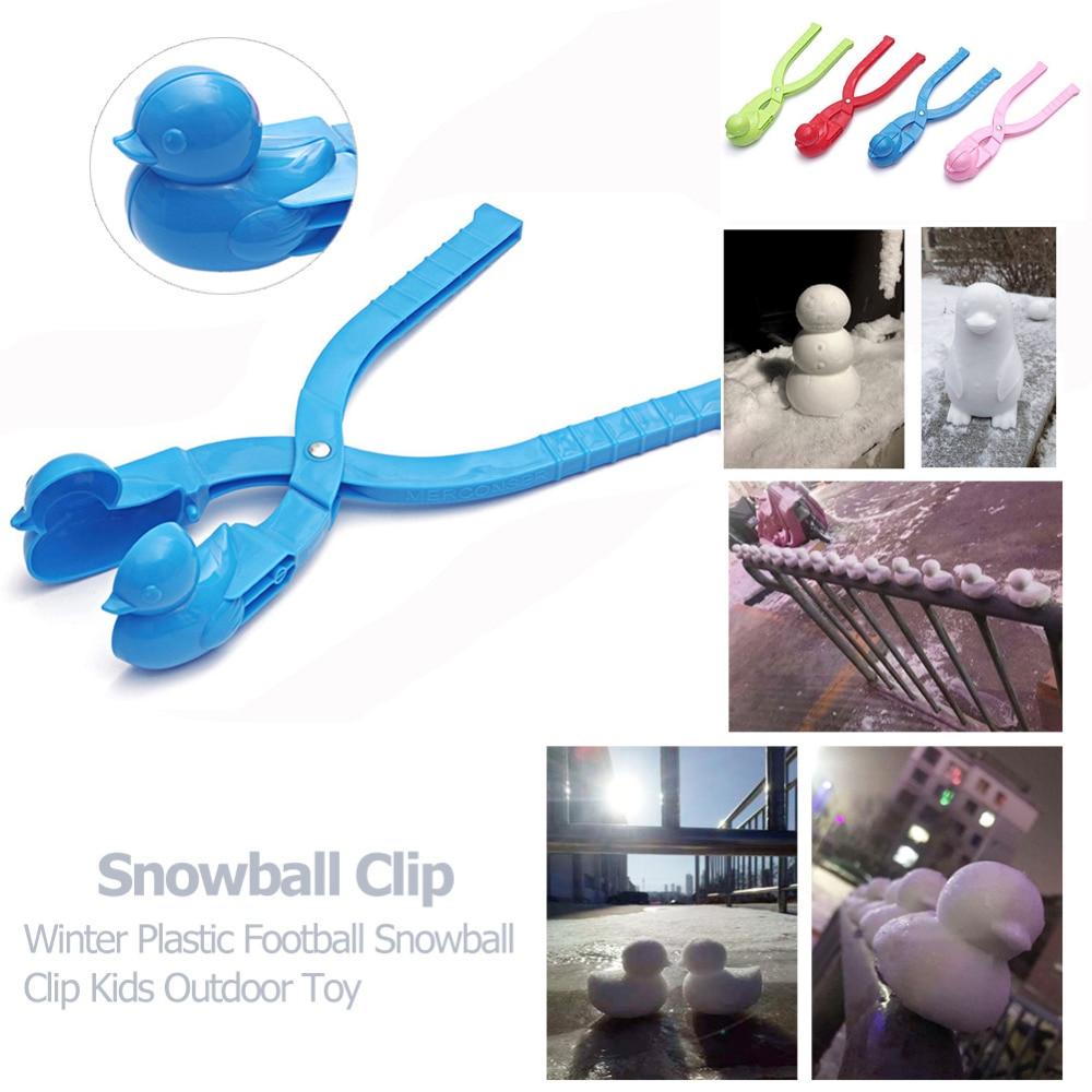 Cartoon Duck Snowball Maker Clip Kids Winter Outdoor Sports Snow Sand Mold Fight Outdoor Sport Tool Toy Sports Kids Toy