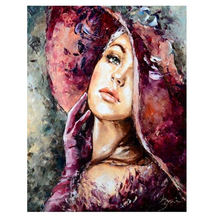 WEEN DIY Oil Painting By Numbers Beautiful Woman Canvas Picture Coloring Paint By Number Brush Drawing Figure Hand Painted Craft цена