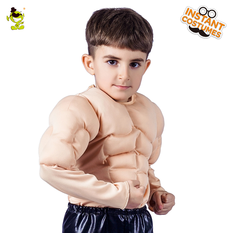 Kid's Muscle Suit Costume Halloween Muscle Boys Role Play Fancy Suit For Children's Part Fancy Clothing Cosplay
