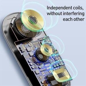 Image 3 - Baseus 3 in 1 Drahtlose Ladegerät Für iPhone 12 Samsung Schnelle Drahtlose Aufladen Pad Für Apple Uhr 5 4 3 für Airpods Chargepad