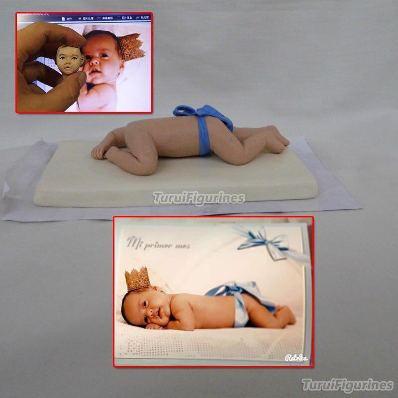 Игрушка статуэтки миниатюрный цельный Футбол Дети Кукла мини Статуэтка мальчик девочка Фигурка из фото кукольный домик коллекционный сувенир