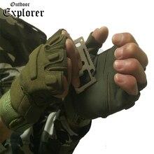 Men Tactical Fitness Gloves Fighting Fingerless Spring Gloves Half Finger Military Climb Glove Non-slip Shockproof