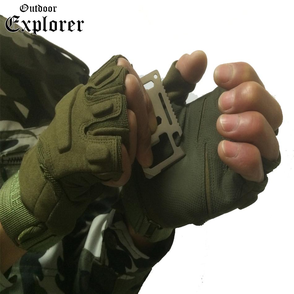 Fingerless gloves climbing - Men Tactical Fitness Gloves Fighting Fingerless Spring Gloves Half Finger Military Climb Glove Non Slip