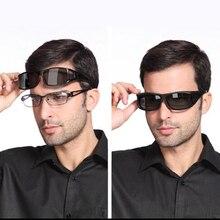 Fashion Polarized Myopia Mirror Set Glasses Men Women Day Night Driving Sunglasses Wrap Arounds Frame Eyewear