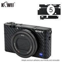 Peau de Film de Fiber de carbone de couverture de corps de caméra anti rayures pour Sony RX100 V RX100 VA RX100 III RX100M5 RX100M5A RX100M3 3M autocollant
