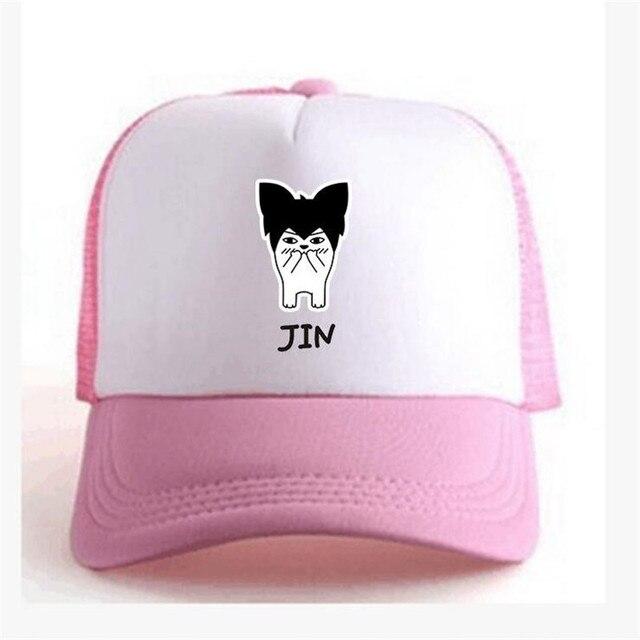 d52374a92ee52 JIN KPOP BTS bangtan niños gorra de béisbol mujeres snapback caps de la  muchacha red cap