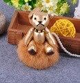 Милые Bomgom Мишка Игрушки Пушистый Мех Кролика Мяч Pom Pom брелок Сумки Вешалка Подвески Брелок Для женщин Сумки Popobe f365