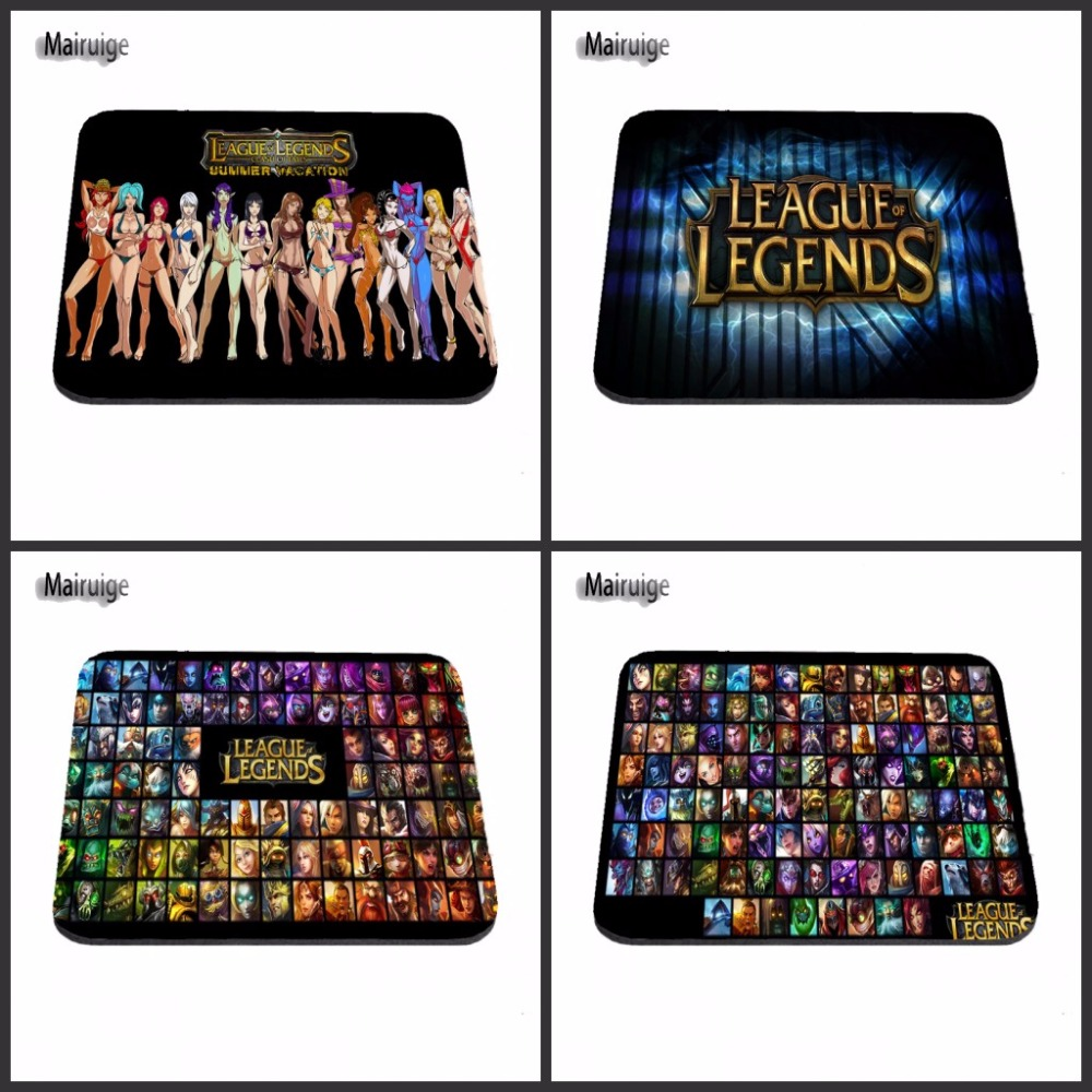 Top Selling Wholesale Support gnar league of legends Custom Design Mouse Pads Computer Gaming Mousemats 18*22cm and 25*29cm
