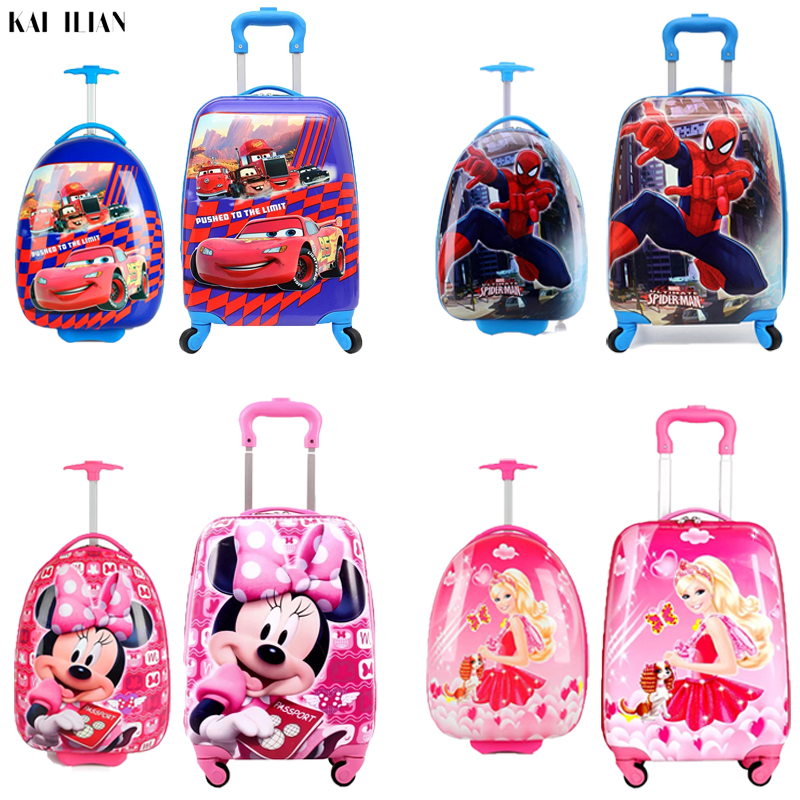 New Childrens Hardside Luggage Cartoon Suitcase Boy Cabin Rolling Luggage Student travel trolley luggage for kids Wheeled BagNew Childrens Hardside Luggage Cartoon Suitcase Boy Cabin Rolling Luggage Student travel trolley luggage for kids Wheeled Bag