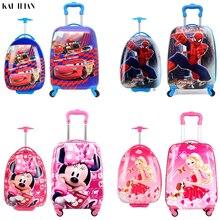 0291eb9d8c632 Nowych dzieci bagaż podróżny Cartoon walizka chłopiec kabiny Rolling bagażu  Student podróży wózek na kółkach dla