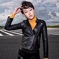 Autumn and winter women 's new washing PU leather Slim motorcycle wear short jacket jacket YF149