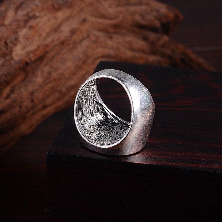 Punk Vintage Trend Mans Ring Gothic Mens Letter Biker Zinc alloy Ring Man fashion rings Free shipping csa1028