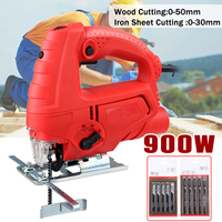 900W 220V Wrench Electric Jig Saw Tools Electric Scroll Sweep Saw Kit Home DIY Wood Work Cutting Power Tools With 10xSaw Blades