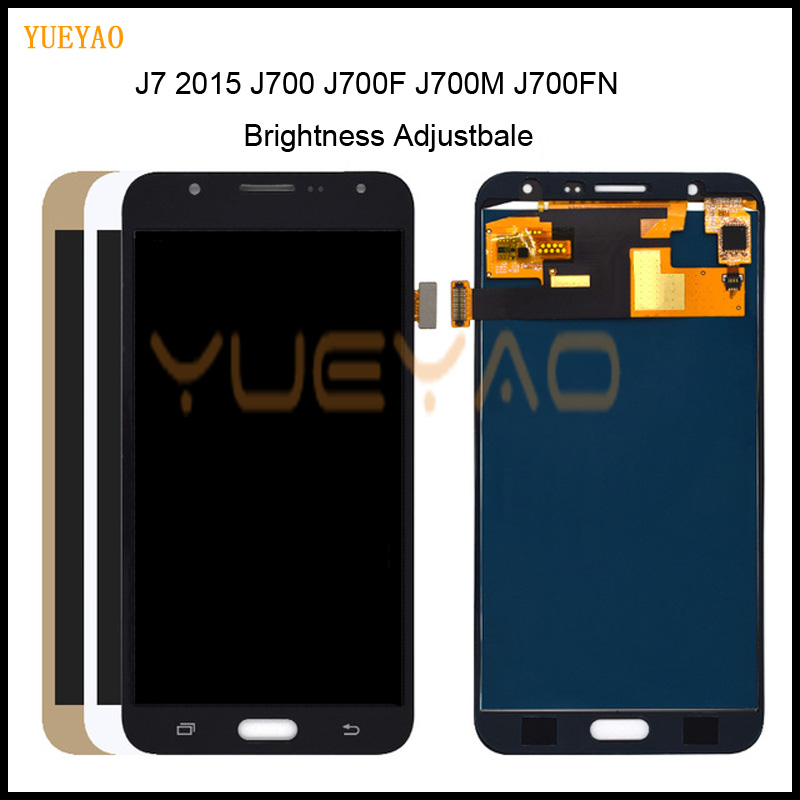 Brightness Adjustbale For Samsung J7 2015 J700 J700F J700M J700FN LCD Display Touch Screen Digitizer Assembly For Samsung J7 LCDBrightness Adjustbale For Samsung J7 2015 J700 J700F J700M J700FN LCD Display Touch Screen Digitizer Assembly For Samsung J7 LCD
