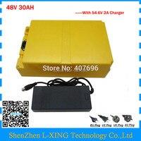 EU US No Tax 48V 30AH Battery 2000W 48V Battery Scooter 48V 30AH Lithium Battery Use