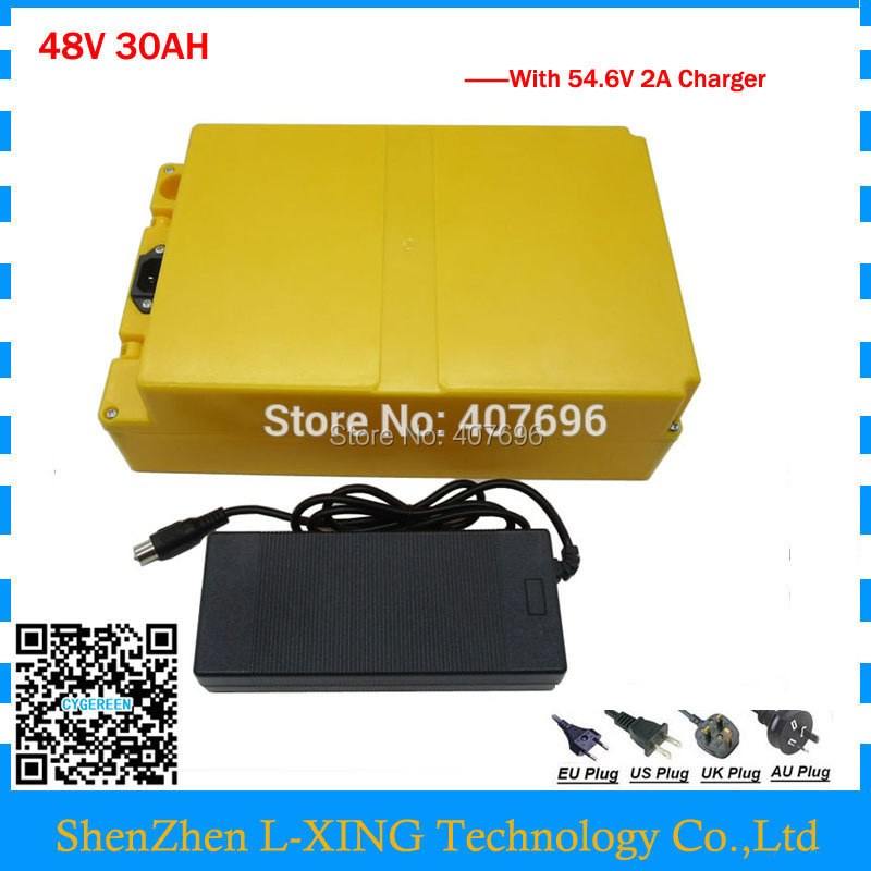 EU US no tax 48V 30AH battery 2000W 48V battery scooter 48V 30AH Lithium battery use samsung 30B Cell with 54.6V 2A charger 30a 3s polymer lithium battery cell charger protection board pcb 18650 li ion lithium battery charging module 12 8 16v