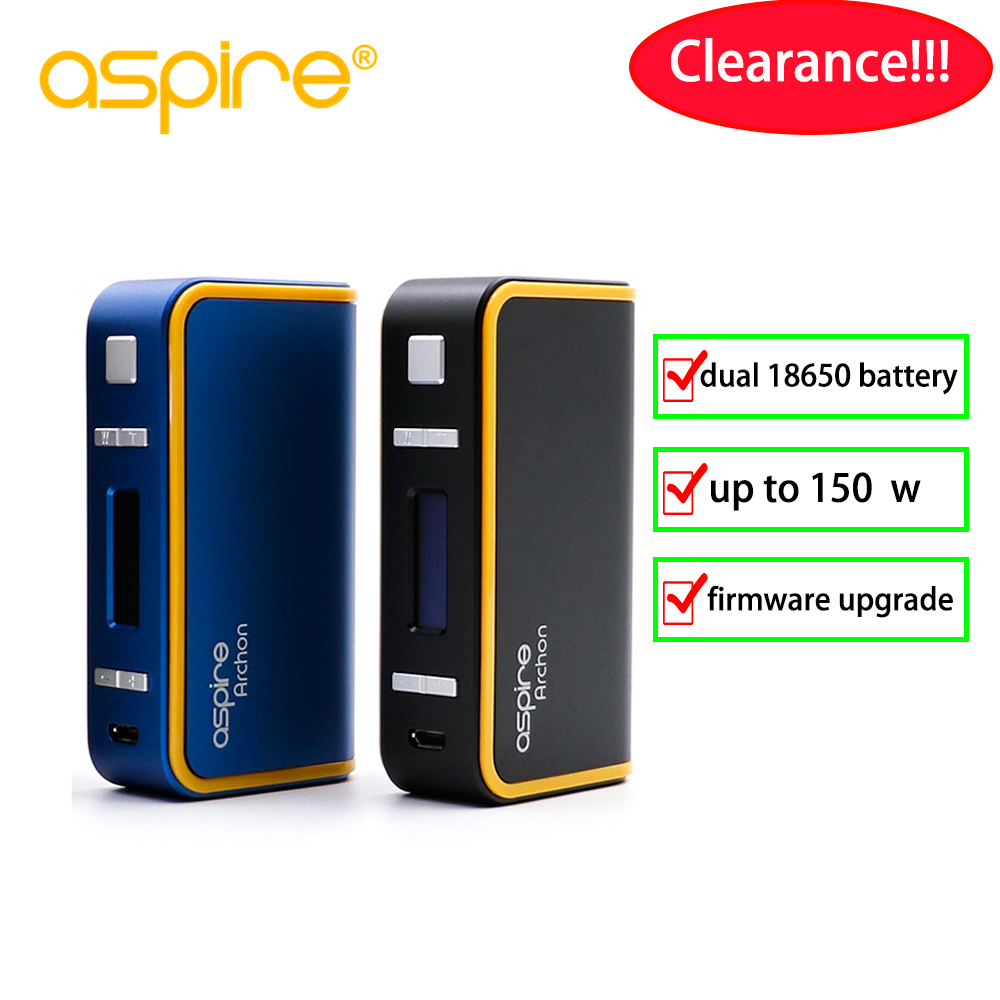 Original Electronic Cigarette Vape Aspire Archon 150W TC Mod Support firmware upgrade Fit 510 E Cigarette vaporizer Vape Mod
