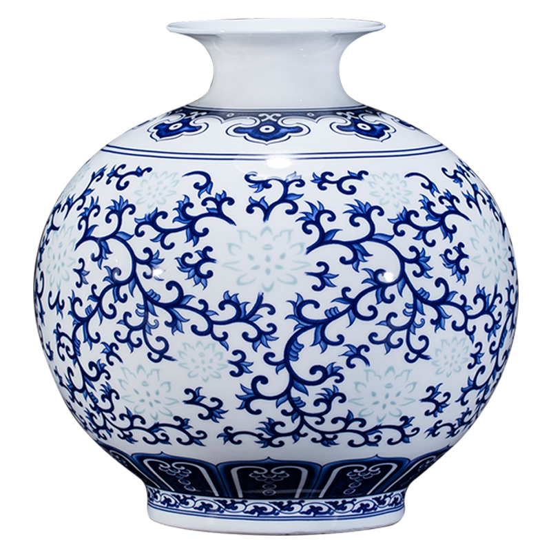 CHINESE OLD BLUE AND WHITE FIGURE STORY PATTERN PORCELAIN JAR TANK