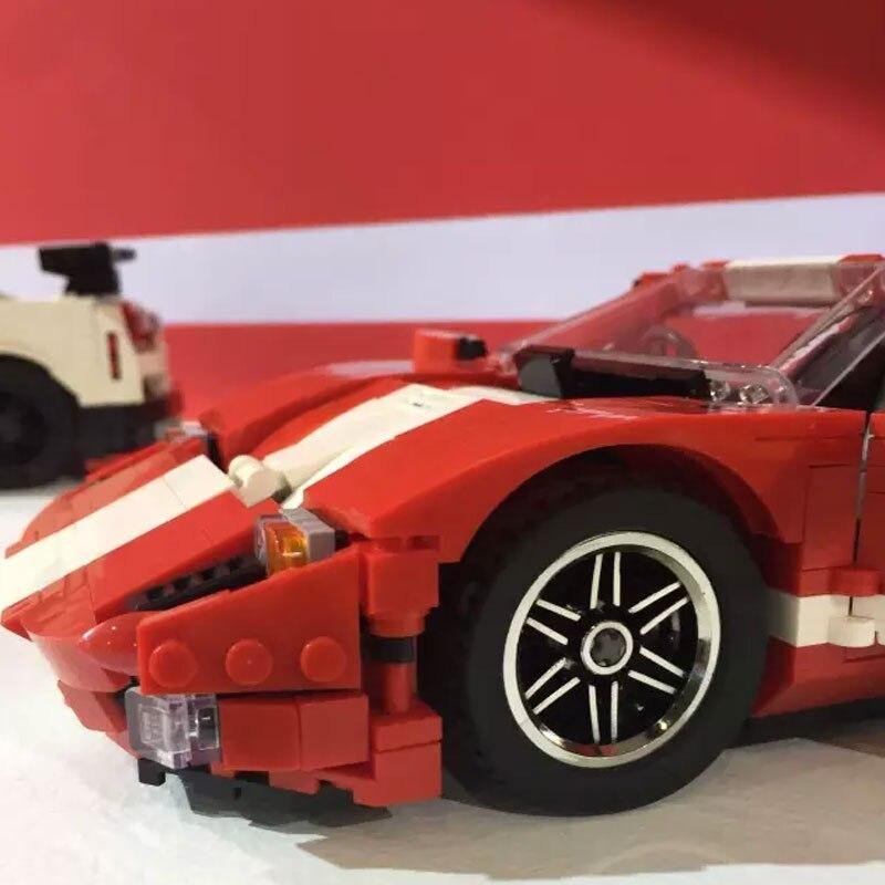 Pravi kreativni MOC Technic serije XingBao 03011 Blok 919Pcs Crveni - Izgradnja igračke - Foto 2