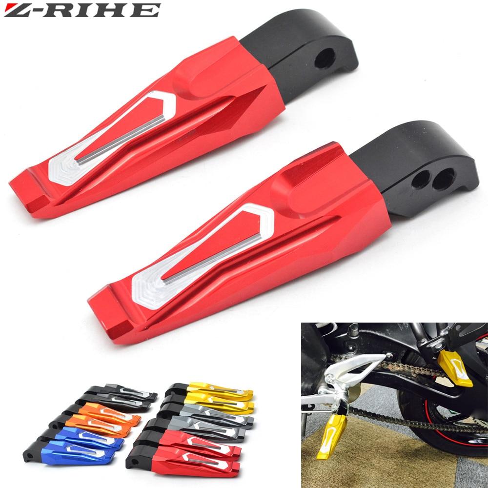 Cnc aluminium motor belakang penumpang Foot Pegs pedal Pijakan Kaki - Aksesori dan suku cadang sepeda motor