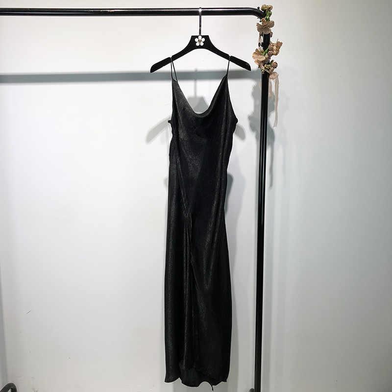 2019 летние новые длинные женские платья Пикантные черный тонкий сексуальный элегантные дамские вечернее платье наивысшего качества