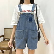 M-5XL Summer Denim Overalls for Women Brushed Hem Playsuits Women Plus Size Pocket Lady Fashion Female Rompers Short Playsuits raw hem camo denim overalls