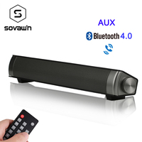Sovawin Soundbar TV Bluetooth 4.0 Speakers Wireless 3D Surround Stereo Sound Bar with Subwoofer Support TF Card AUX For Phone PC