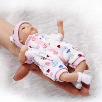 20cm Silicone twins Dolls Reborn 8inch Mini Palm Little Babies silicone Doll Lifelike Real Baby Doll Girl Boy toys free shipping doll alive reborn doll with soft real gentle touch 2018 new design free shipping lifelike wholesale baby gift dolls
