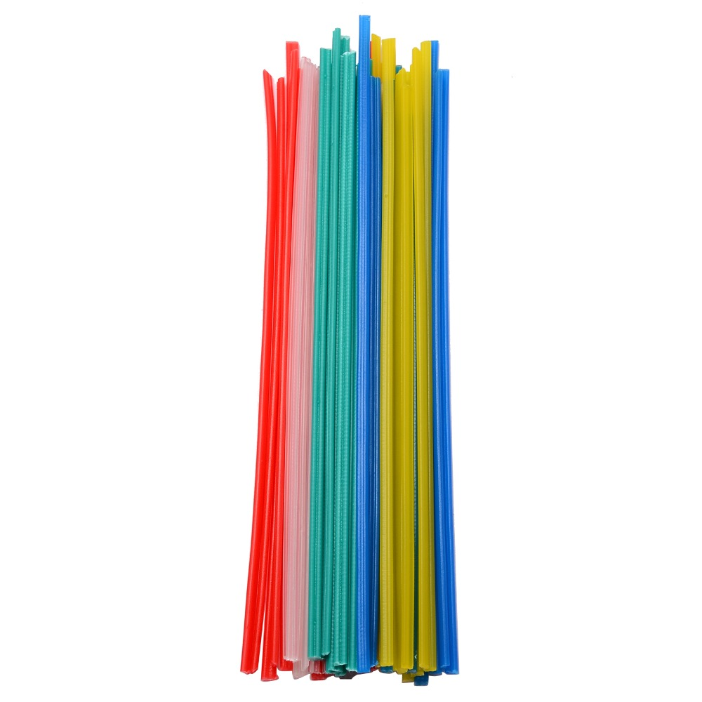50pcs 25cm Length Plastic Welding Rods Welder Sticks 5 Colors Blue/White/Yellow/Red/Green For Soldering