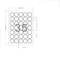 1 5cm 9 5cm Diameter Matte White Round Label A4 Kraft Paper Sheet Self Adhesive Packaging