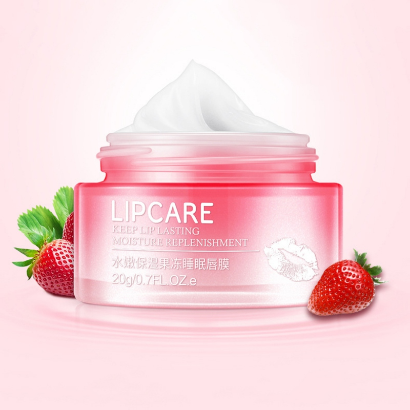 Strawberry Lip Sleeping Mask Exfoliator Lips Balm Moisturizer Nourish Lip Plumper Enhancer Vitamin Skin Care Lip Mask New