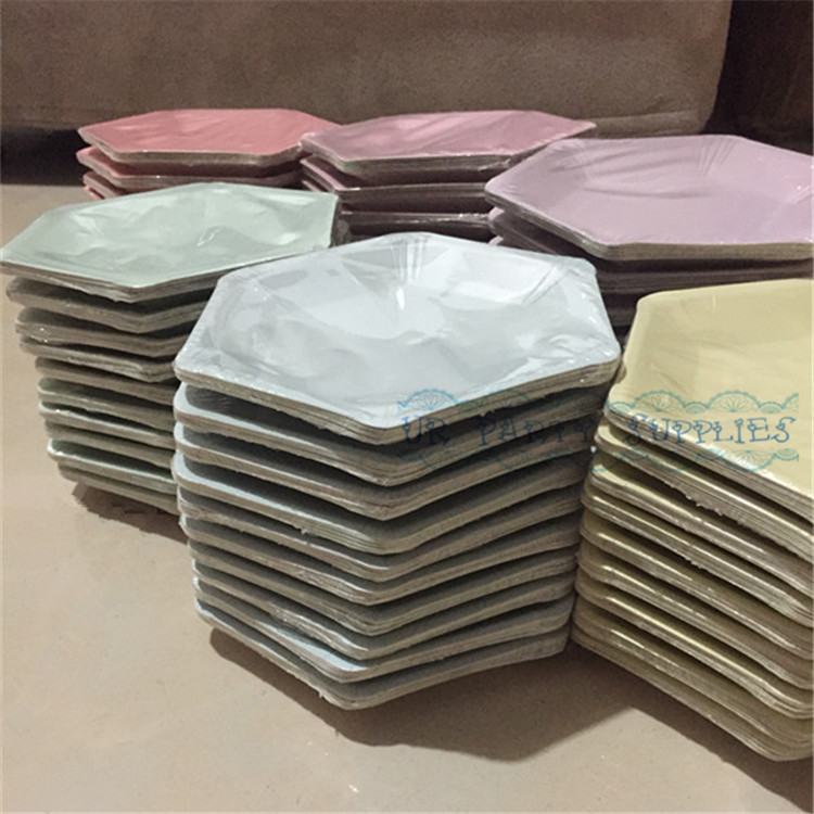 Free Shipping 40pcs Solid Colorful Paper Plates Dessert High Tea & Interesting High Tea Paper Plates Ideas - Best Image Engine ...