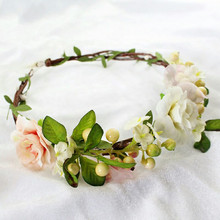 HIYONG Hot Sell Flower Crown Diy Floral Headband Girls Baby Girl Accessories