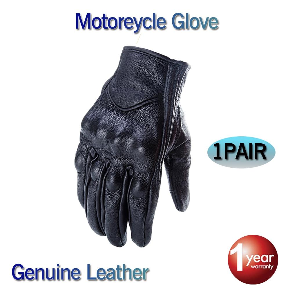 CRAZY BIKER Glove real Leather Full Finger Black moto men Motorcycle Gloves Motorcycle Protective Gears Windproof перчатки сноубордические marmot randonnee glove real black
