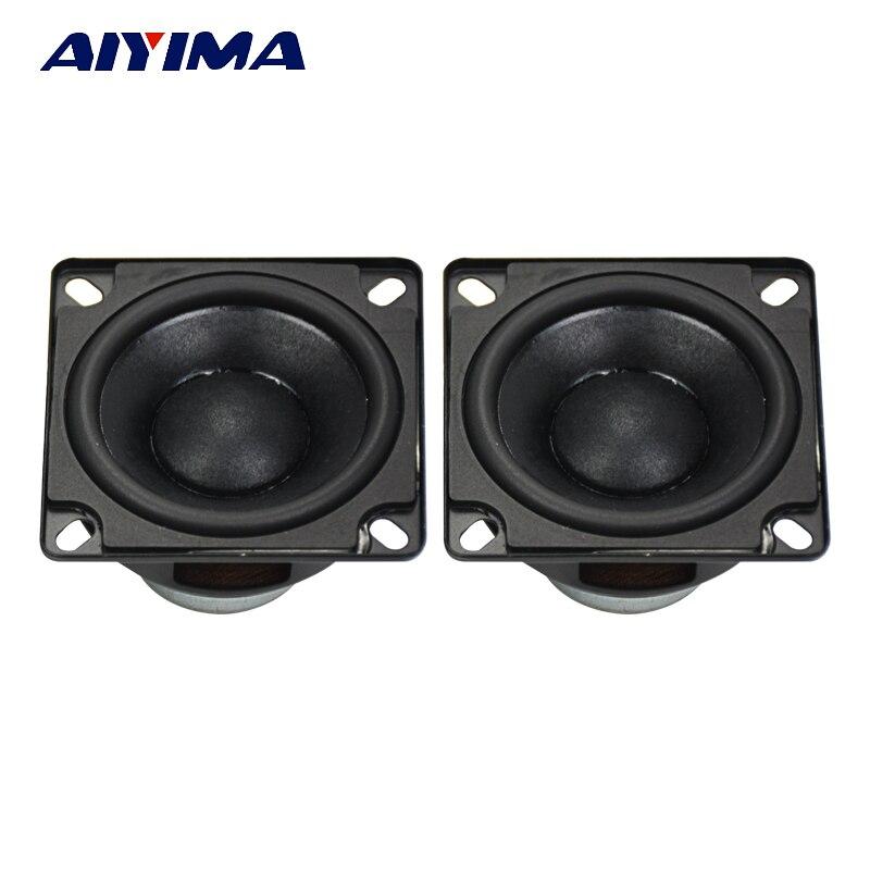 Aiyima 2 шт. Портативный аудио полный спектр Колонки 53 мм 20 core 4ohm 10 Вт резиновые боковые Динамик NdFeB сильный магнитная Водонепроницаемый Динамик