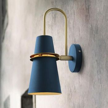 Настенный светильник Macaron креативный осветительный прочный безопасный утолщенный 12 см Железный base14 см Железный Абажур без необходимости с...