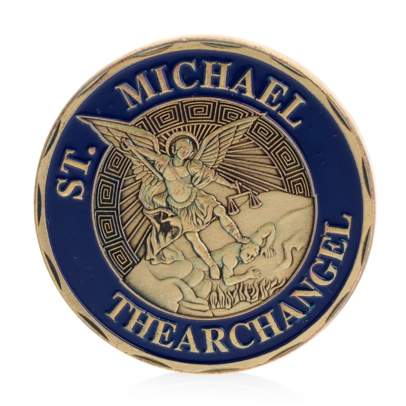 Saint Michael The Archangel Commemorative Challenge Coins Collection Token Art
